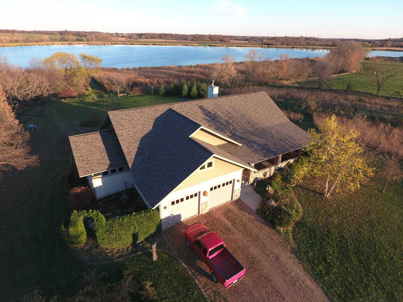 overhead photo of a house